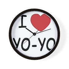 I heart Yo-Yo Wall Clock