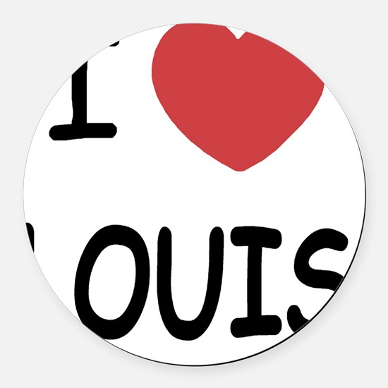 I heart Louis Round Car Magnet