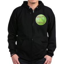 Softball Gift Car Magnet Zip Hoodie