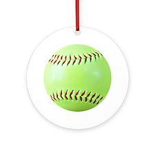 Softball Gift Car Magnet Round Ornament