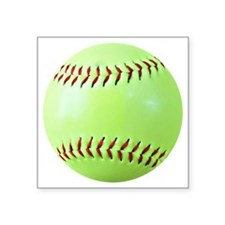 "Softball Gift Car Magnet Square Sticker 3"" x 3"""