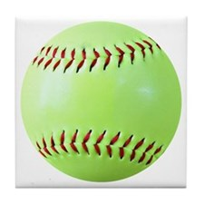 Softball Gift Car Magnet Tile Coaster