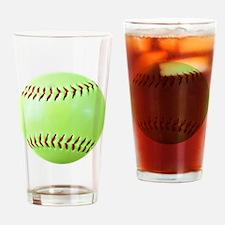 Softball Gift Car Magnet Drinking Glass