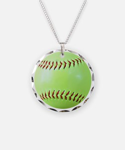 Softball Gift Car Magnet Necklace