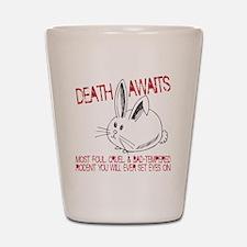 death awaits Shot Glass