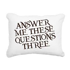 questions three Rectangular Canvas Pillow