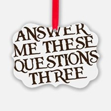 questions three Ornament