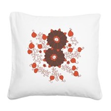 Henna Square Canvas Pillow