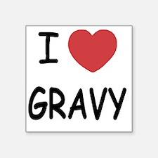 """I heart Gravy Square Sticker 3"""" x 3"""""""