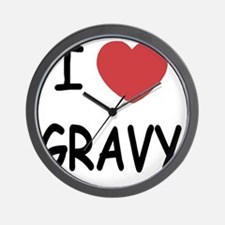I heart Gravy Wall Clock