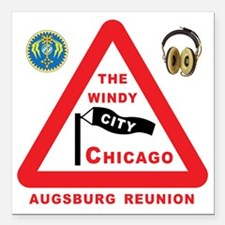 "the Windy City Square Car Magnet 3"" x 3"""