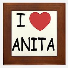 I heart Anita Framed Tile