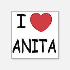 "I heart Anita Square Sticker 3"" x 3"""