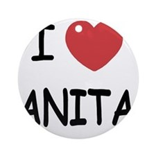 I heart Anita Round Ornament