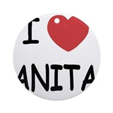 I heart Anita Round Ornament