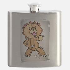 Anime angry bear Flask