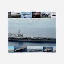 USS Dwight D. Eisenhower (CVN-69) Throw Blanket