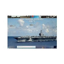 USS Theodore Roosevelt (CVN-71) Rectangle Magnet