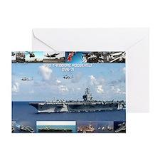 USS Theodore Roosevelt (CVN-71) Greeting Card