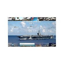USS Theodore Roosevelt (CVN-71) 3'x5' Area Rug