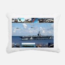 USS Theodore Roosevelt ( Rectangular Canvas Pillow