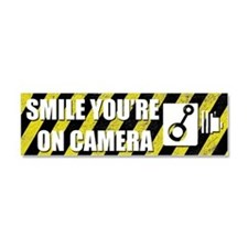 Smile youre on camera Car Magnet 10 x 3
