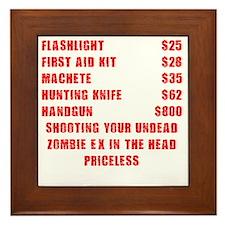 Zombie Ex Priceless Framed Tile