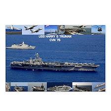 USS Harry S Truman (CVN-7 Postcards (Package of 8)