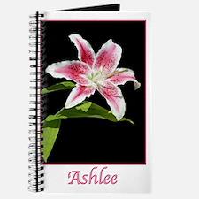 Stargazer Lily with name Ashlee Journal