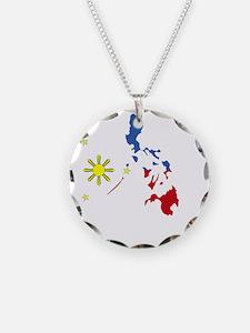 Pinoy Pride Map for dark gar Necklace