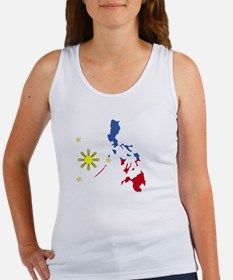 Pinoy Pride Map for dark garmets Women's Tank Top