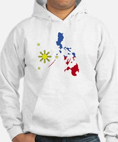 Pinoy Pride Map for dark garmets Hoodie