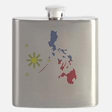 Pinoy Pride Map for dark garmets Flask