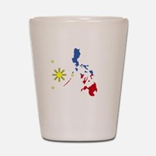 Pinoy Pride Map for dark garmets Shot Glass