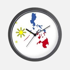 Pinoy Pride Map for dark garmets Wall Clock