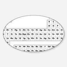 The Periodic Table of Elements Decal