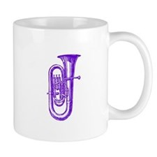 Woodcut Purple Tuba Mug