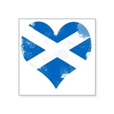 "A Scottish Heart Square Sticker 3"" x 3"""