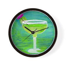 Margarita Tequila Cocktail Pillow Wall Clock