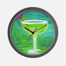 Margarita Tequila Cocktail Pillow Wall Clock