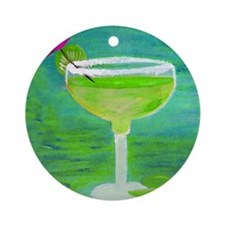 Margarita Tequila Cocktail Pillow Round Ornament