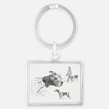 Pointers - Hunting Dogs Landscape Keychain