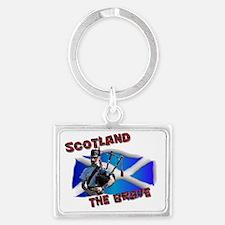 Scotland the brave Landscape Keychain