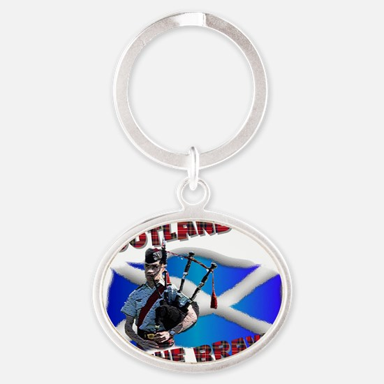 Scotland the brave Oval Keychain