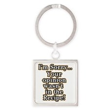 Funny recipe apron or shirt for th Square Keychain