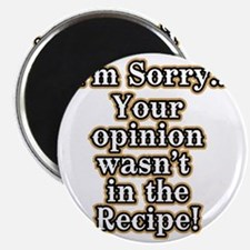 Funny recipe apron or shirt for the kitchen Magnet