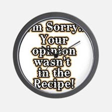 Funny recipe apron or shirt for the kit Wall Clock