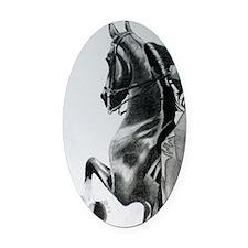 American Saddlebred pencil drawing Oval Car Magnet