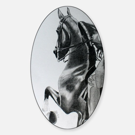 American Saddlebred pencil drawing Sticker (Oval)