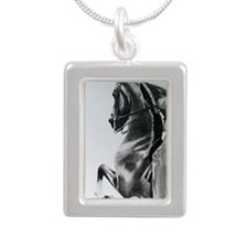 American Saddlebred penc Silver Portrait Necklace